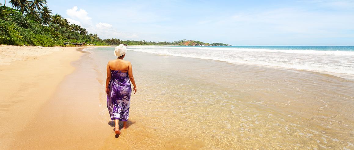 Der Strand außerhalb Surya Lanka Ayurveda Resort