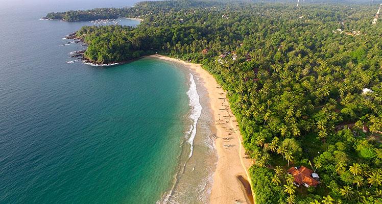 Talalla bucht außerhalb der Ayurveda Resort in Sri Lanka