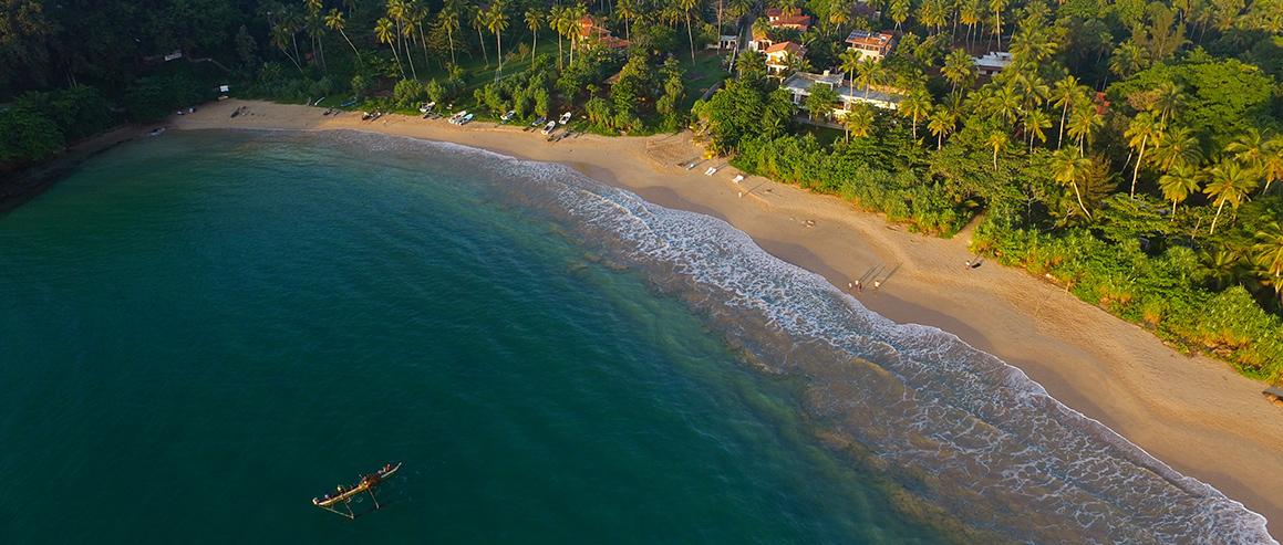 Der Strand vor dem Sri Lanka Ayurveda Hotel