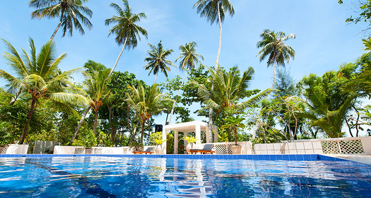 Schwimmbad in der Sri Lanka Ayurveda Resort