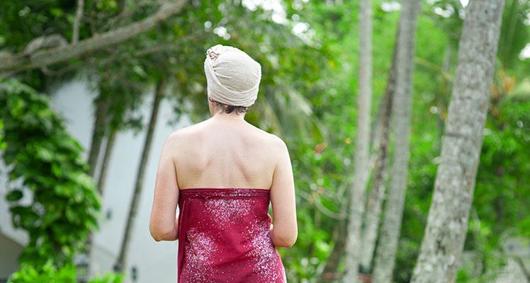 Garten in der Surya Lanka Ayurveda Resort