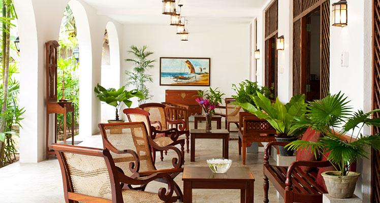 Restaurant im sri-lankischen Ayurveda Resort