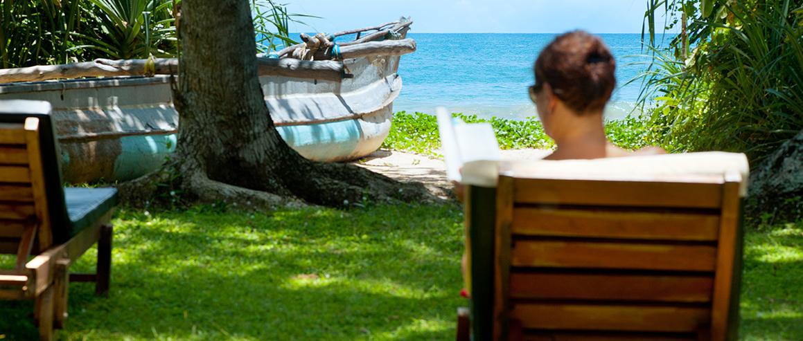 Strand außerhalb des Sri Lanka Ayurveda Resort
