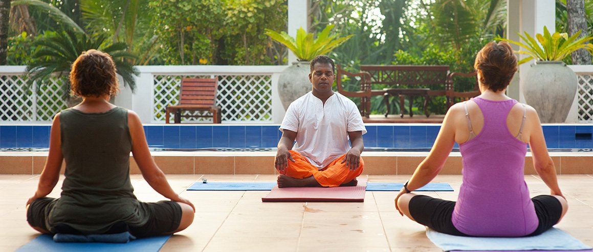 Yoga in der Sri Lankan Ayurveda Resort